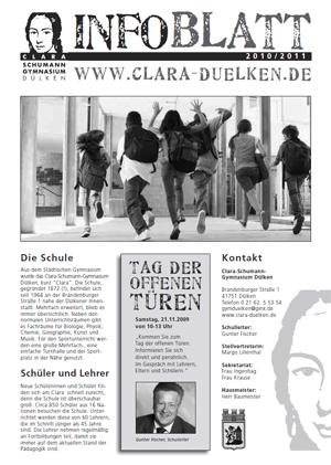 Informationen zur Schule kurz gefasst im Infoblatt - Bitte anklicken!
